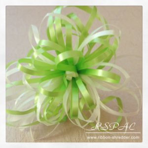 Make bows with curling ribbon curl and shred ribbon