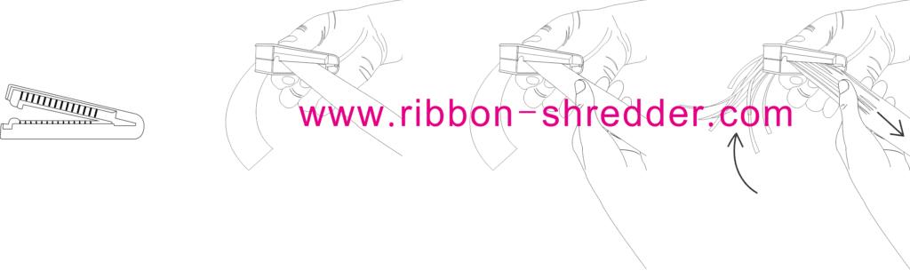 ribbon shredder and curler tool