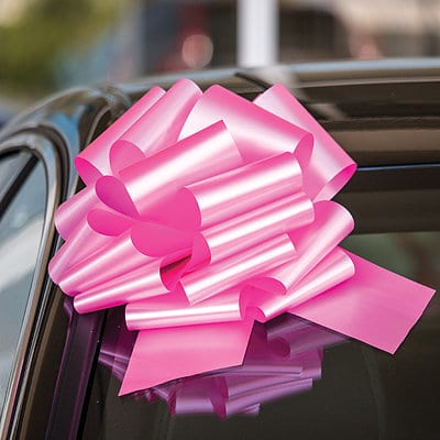 12 Inch Pink Car Bows,giant bow for car,big red bow for car