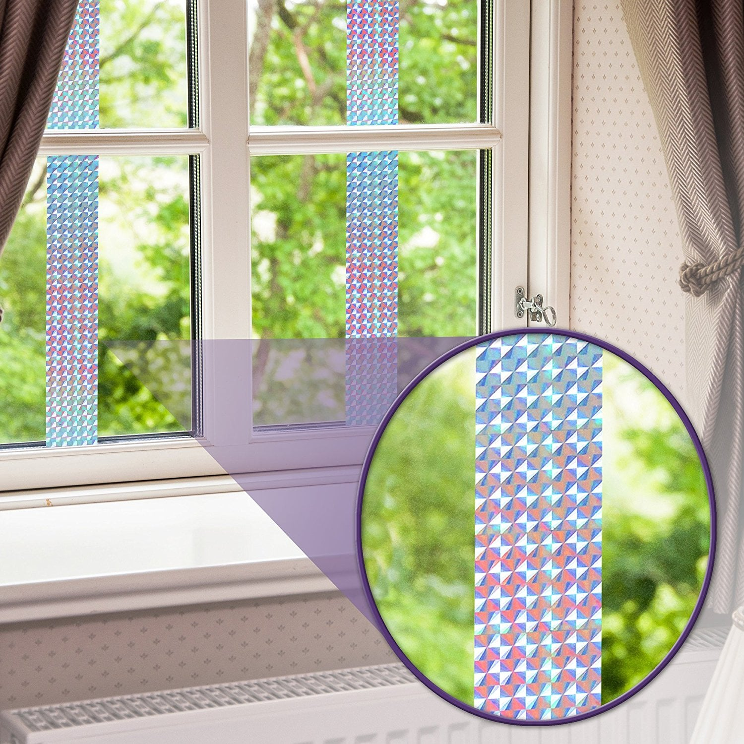 Holographic Reflector Ribbon, Scare Birds, Woodpeckers, Pigeons
