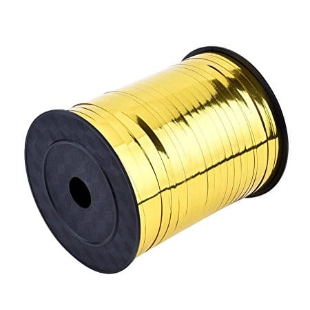 RSPAC(TM) Curling Ribbon Roll Crimps Gold Balloon Ribbons for Party and Festival Decoration, Crafts and Gift Wrapping, 10 SS VV, 250 Yards