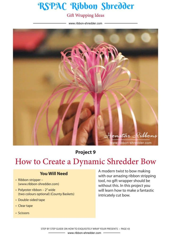 how to make a shredder ribbon bow,Paper Shredder Tools,gift packing ideas